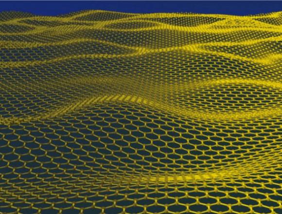 Modell einer Graphenschicht (Bild: Schwedische Akademie der Wissenschaften)