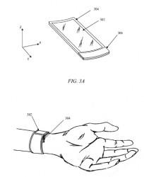 Apple-Zeichnung zu iWatch-Patentantrag (Bild: via USPTO)