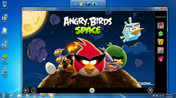Bluestacks macht Angry Birds Space unter Windows 8 verfügbar.