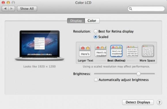 Unter Mac OS lässt sich die virtuelle Bildschirmauflösung verstellen - unter Chrome OS bisher nicht (Screenshot: News.com).