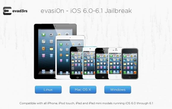 Das Jailbreak-Tool evasi0n steht für Windows, Linux und Mac OS X bereit (Screenshot: ZDNet.de).