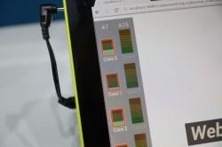 ARM benchmarkt den Samsung Exynos 5 Octa (Bild: CNET)
