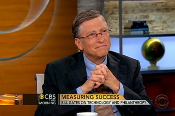 "Bill Gates bei ""CBS This Morning"" (Screenshot: CNET.com)"