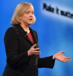 HP-CEO Meg Whitman auf der Global Partner Conference in Las Vegas (Bild: HP)