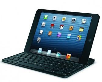 Logitechs Bluetooth-Tastatur samt Schutzhülle für das iPad mini (Bild: Logitech)