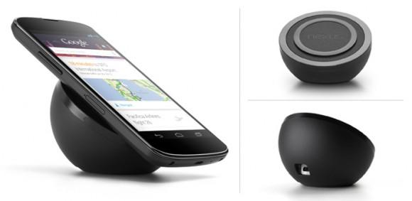 Das bisher nur in den USA verfügbare Induktionsladegerät für das Nexus 4 kostet knapp 60 Dollar (Bild: Google).