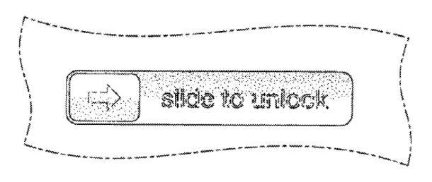 """Illustration zum Geschmacksmuster für """"Slide to Unlock"""" (Bild: Apple)"""