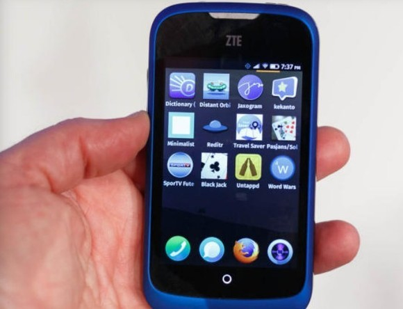 App-Screen auf ZTE Open mit Firefox OS (Bild: Stephen Shankland, CNET.com)