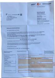 Das betrügerische Schreiben enthält sogar einen Überweisungsträger (Bild: Polizei Mittelhessen).