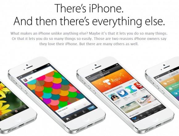Apple bewirbt das iPhone 5