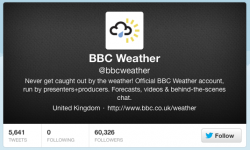 Twitter-Channel BBC Weather