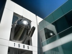 Chrome und Android als Skulptur (Foto: Paul Wilcox bei Google+, via ZDNet.com)