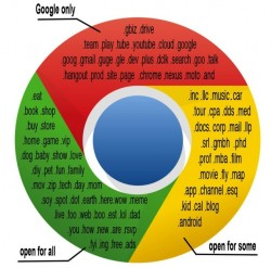 Chrome-Logo mit einmontierten Google-Domainnamen (Bild: News.com)