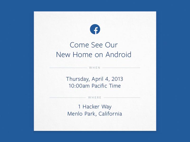 Facebook lädt zu Android-Presse-Event