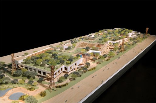Modell des zweiten Facebook-Campus' in Menlo Park (Bild: Frank Gehry/Gehry Partners)
