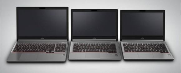 Die Lifebook-E-Modelle sind in 15,6, 14 und 13,3 Zoll verfügbar (Bild: Fujitsu).