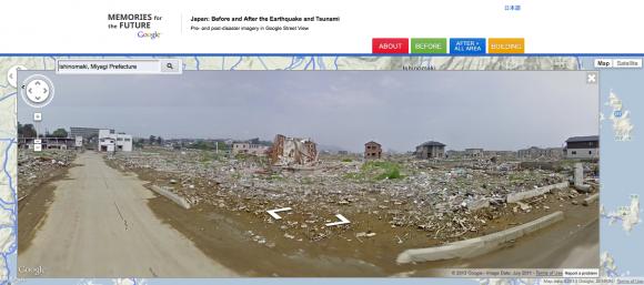Die Stadt Ishinomaki ist eine der am schwersten betroffenen Gemeinden um Fukushima (Bild: Google).