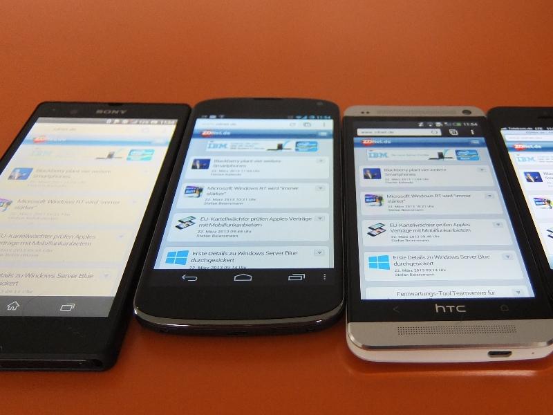 Aktuelle Smartphones im Display-Check