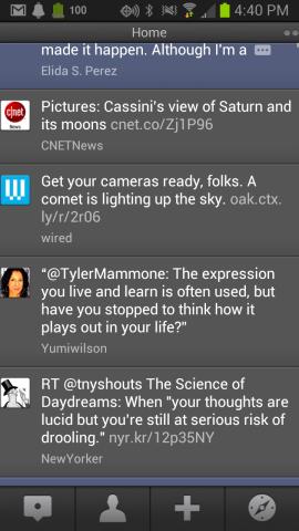 Der Android-Client von TweetDeck wird wie die iPhone- und AIR-Version im Mai eingestellt (Screenshot: Donna Tam/CNET).