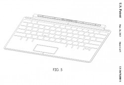 Touch Cover (Zeichnung: Microsoft, via USPTO)