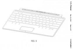 Touch Cover (Zeichnung: Microsoft, via USPTO)