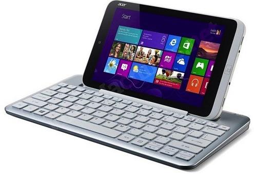 """Für das 8 Zoll große Windows-8-Tablet Iconia W3 wird es offenbar auch eine Docking-Tastatur geben (Bild: Minimachines.net <a href=""""http://www.engadget.com/2013/04/22/acer-iconia-w3-reportedly-leaks/"""" target=""""_blank"""">via Engadget</a>)."""