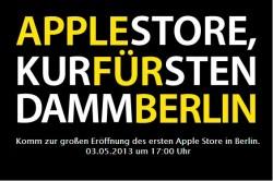 Am 3. Mai 2013 eröffnet Apple seinen ersten Retail Store in Berlin (Screenshot: ZDNet.de).