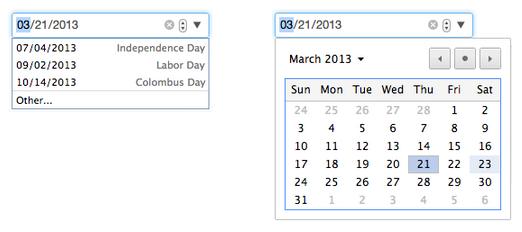 Kalender sehen in Chrome 27 Beta etwas besser aus (Bild: Google).