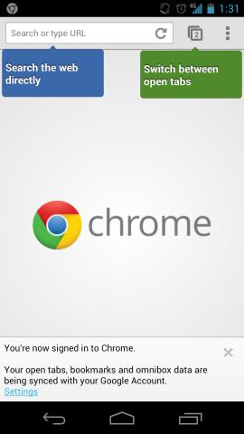 Chrome für Android synchronisiert jetzt Passwörter und AutoFill-Einträge (Screenshot: Seth Rosenblatt/CNET).