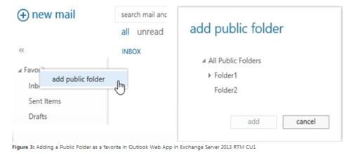 Öffentlicher Ordner in Outlook Web Access (Screenshot: Microsoft)