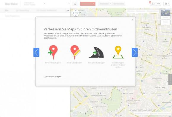 Google Map Maker ist ab sofort auch in Deutschland verfügbar (Screenshot: ZDNet.de).