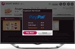 Paypal-Transaktion auf Smart TV von LG (Bild: LG)