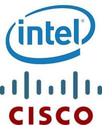 Logos von Cisco und Intel