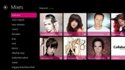 Nokia Music+ unter WIndows 8: Mixes (Screenshot: Nokia)
