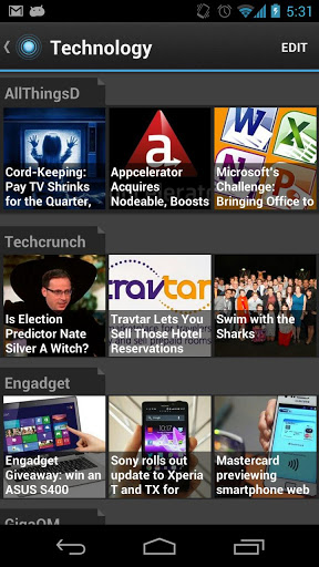Pulse News unter Android (Bild: via Google Play)
