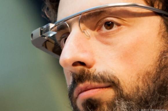 Google-Mitgründer Sergej Brin trägt Glass Glass (Bild: James Martin / CNET.com)