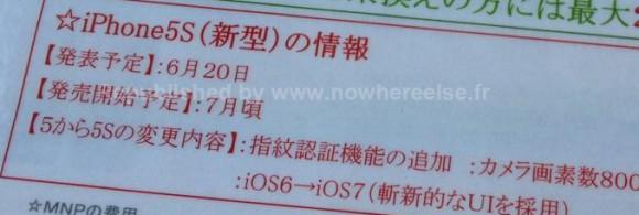 Der Vorverkauf des iPhone 5S startet angeblich am 20. Juni (Bild: Nowhereelse.fr).