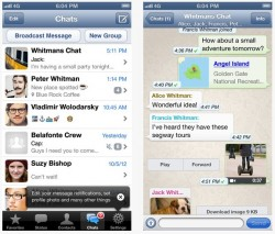 WhatsApp unter iOS (Screenshots: News.com)