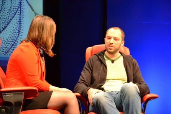 WhatsApp-CEO Jan Koum auf der Konferenz Dive into Mobile (Bild: Maggie Reardon/CNET).