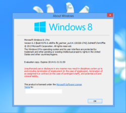 ‏Windows Blue alias 8.1 (Bild: Twitter-User @AngelWZR)