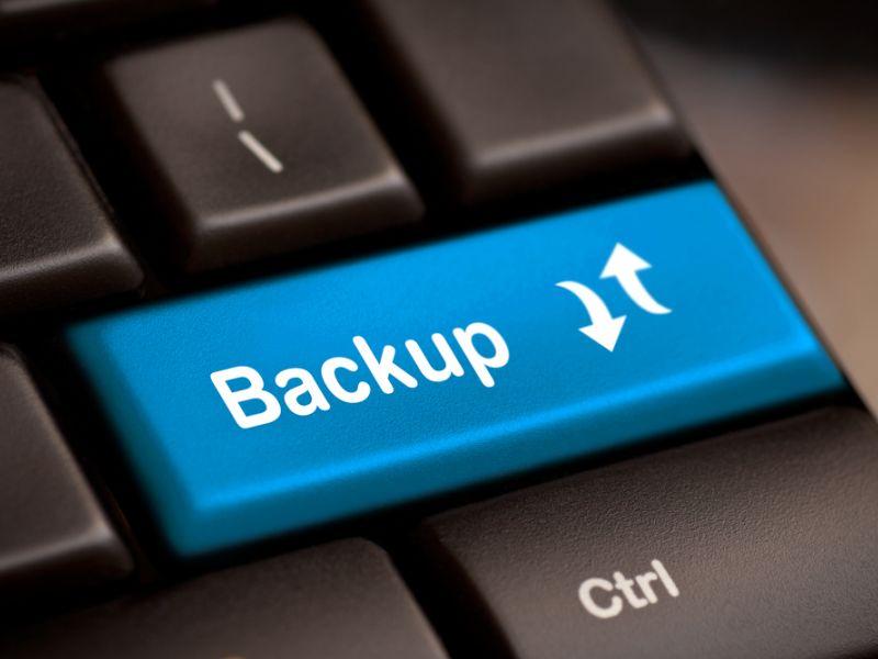 Royalty-Free Stock Photo Backup Computer Key.