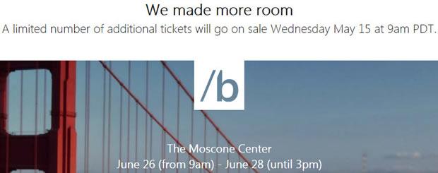 Microsoft kündigt weitere Tickets für Build an