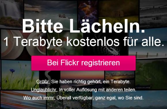 Flickr bietet Nutzern ein Terabyte kostenlosen Speicher.