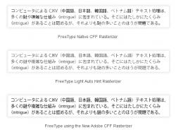 Raster-Engines für FreeType im Vergleich (Screenshot: ZDNet.com)
