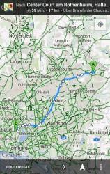 Ab sofort steht die Fahrradnavigation in Google Maps für Android auch in Deutschland zur Verfügung (Bild: Google).