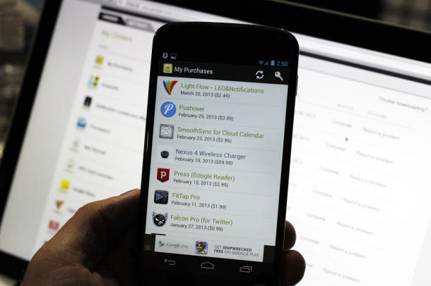 Google Play Books im Einsatz (Bild: News.com]