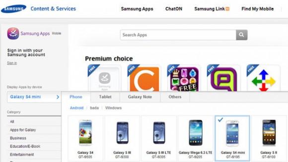 Die englischsprachige Samsung-Website führte kurzzeitig das Galaxy S4 Mini auf (Screenshot: CNET UK).