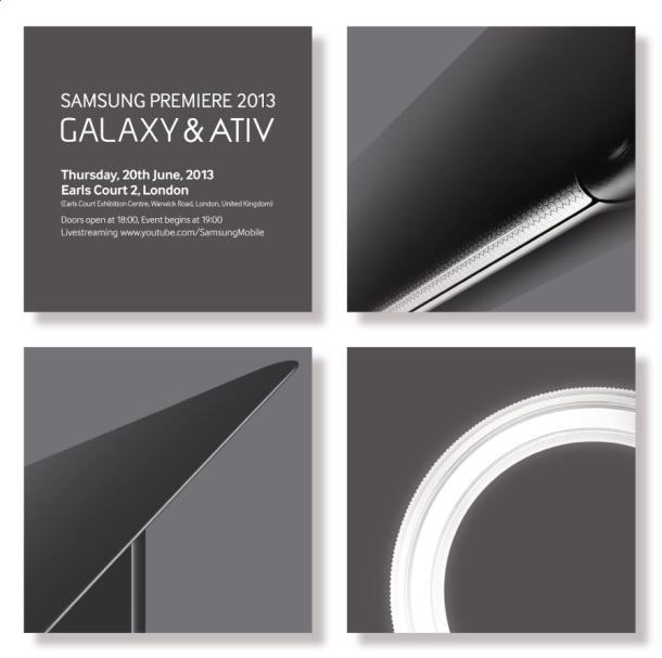 Einladung zum Samsung-Event am 20. Juni 2013 in London (Bild: Samsung)