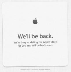 Apple hat seinen Online-Store abgeschaltet (Screenshot: ZDNet).