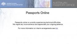 Australische Site mit Reisepassdiensten seit einer Woche ausgefallen